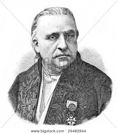 Professor Jean-Martin Charcot.  Engraving by Schyubler. Published in magazine