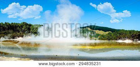 The Champagne Pool At Waiotapu Thermal Area Rotorua
