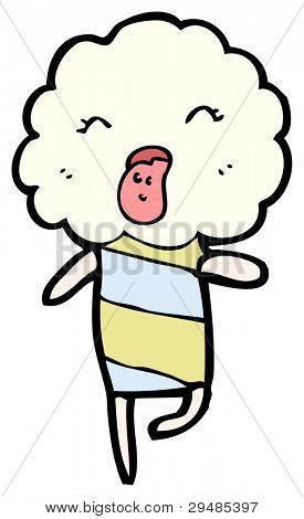 funny cloud head creature sticking out tongue (raster version) poster