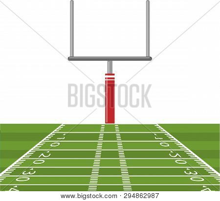 American Football Field Goal Post Touchdown Game Illustration