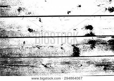 Vector Wood Texture. Old Wooden Wall, Horizontal Planks. Abstract Background. For Posters, Retro And