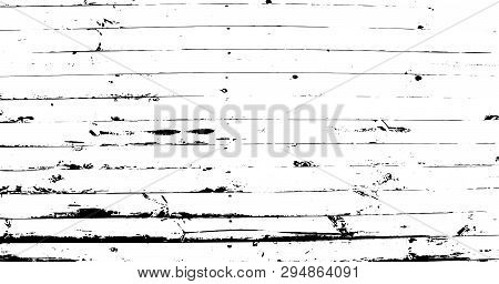 Abstract Background, Old Wooden Wall, Horizontal Narrow Planks. Wood Vector Texture. Overlay Illustr