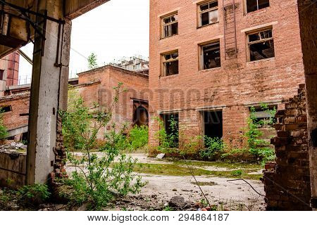 Industrial View Of An Old Abandoned Factory