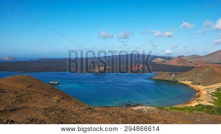 Morning Shot Of Isla Bartolome And Pinnacle Rock In The Galapagos