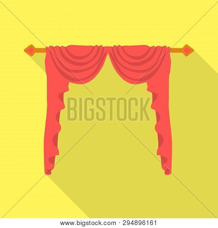 Isolated Object Of Lambrequin And Hall Sign. Collection Of Lambrequin And Cosiness Stock Vector Illu