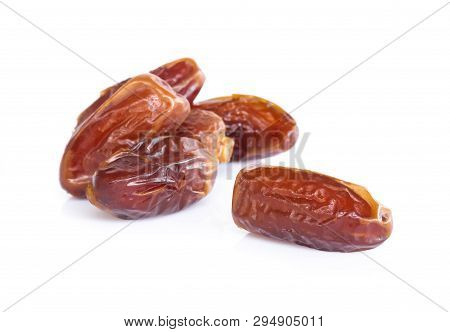 Date Palm Isolated On White Blackground, Food Healthy Concept