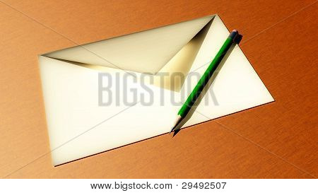 pencil and envelope
