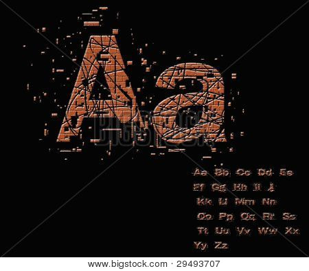 One Letter From Stone Alphabet Set  From A