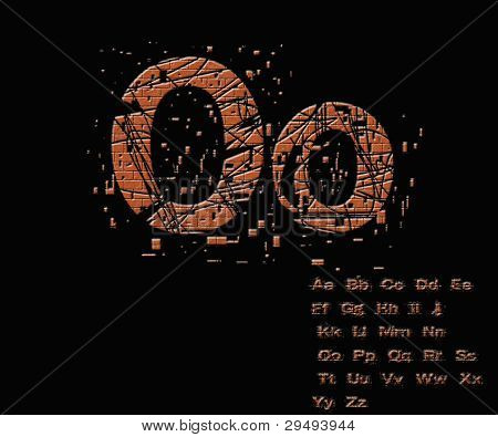 One Letter From Stone Alphabet Set  From O
