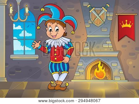 Happy Jester Theme Image 2 - Eps10 Vector Picture Illustration.