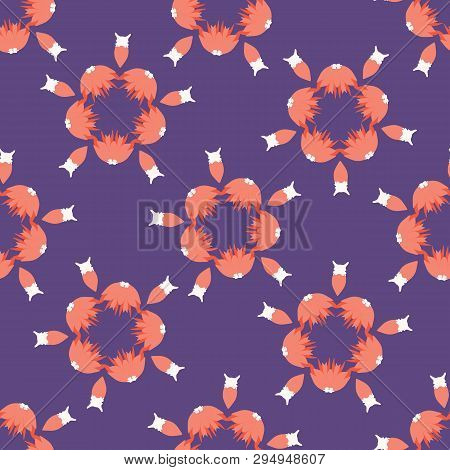 Hand Drawn Floral Polka Dot Circles Seamless Pattern. Sketchy Flower Dotty Vector Illustration.