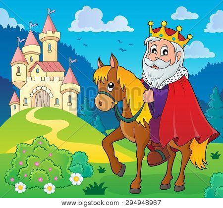 King On Horse Theme Image 5 - Eps10 Vector Picture Illustration.