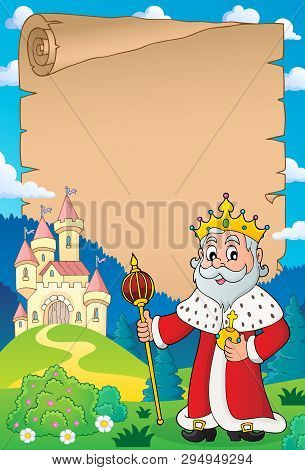 King Topic Parchment 4 - Eps10 Vector Picture Illustration.