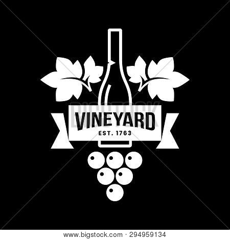 Modern Wine Vector Logo Sign For Tavern, Restaurant, House, Shop, Store, Club And Cellar Isolated On