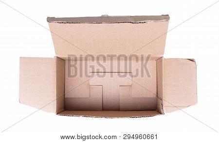 Cardboard Box With Flip Open Lid, Lid Open