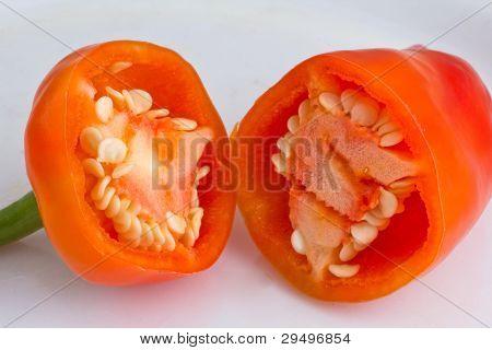 Sliced  bell pepper
