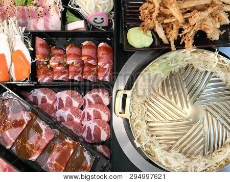 Pork And Beef Barbecue Grill Buffet, Cuisine Food