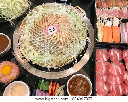 Pork And Beef Korean Barbecue Grill Buffet With Smile