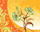 FLoral abstract vector illustration. Suits well for design. poster