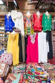 Dubai souks and its colours from goods in Bur Dubai poster