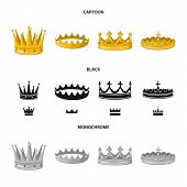 Isolated object of medieval and nobility symbol. Collection of medieval and monarchy stock symbol for web. poster