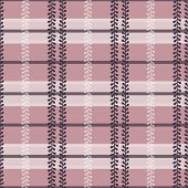 Vector Folklore Plaid with Periwinkle in Dusty Pink seamless pattern background. poster