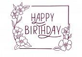 Happy Birthday text as Birthday badge/tag/icon. Happy Birthday card/invitation/banner template. Birthday background. Happy Birthday lettering typography poster poster