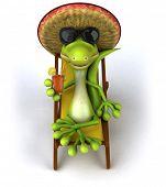 Mexican lizard poster