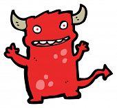 mischievous little devil cartoon (raster version) poster