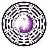 yin yang chinese cosmos illustration feng shui  balance zen silhouette taoism poster