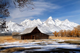 Grand Teton barn on Mormon row