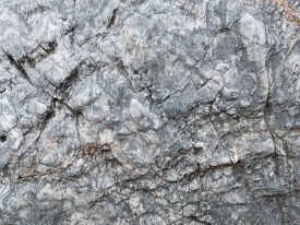 The Surface Of The Light Gray Marble Stone Texture Background. More Then A Million Years Old