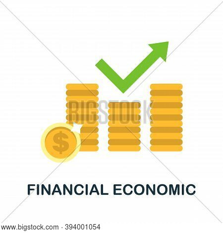 Financial Economic Icon. Simple Element From Economic Collection. Creative Financial Economic Icon F