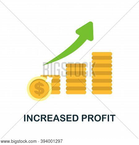 Increased Profit Icon. Simple Element From Economic Collection. Creative Increased Profit Icon For W