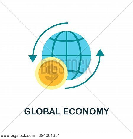 Global Economy Icon. Simple Element From Economic Collection. Creative Global Economy Icon For Web D