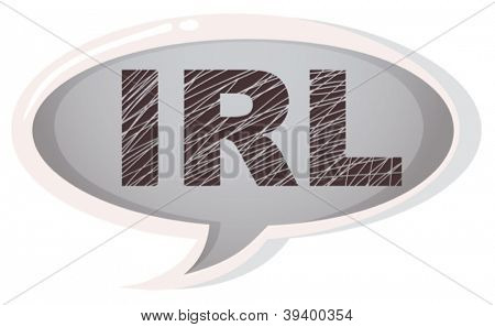 illustration of a speech bubble on a white background