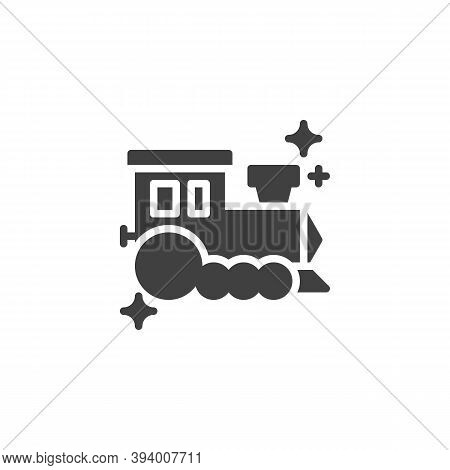 Toy Train Vector Icon. Filled Flat Sign For Mobile Concept And Web Design. Train Locomotive Glyph Ic