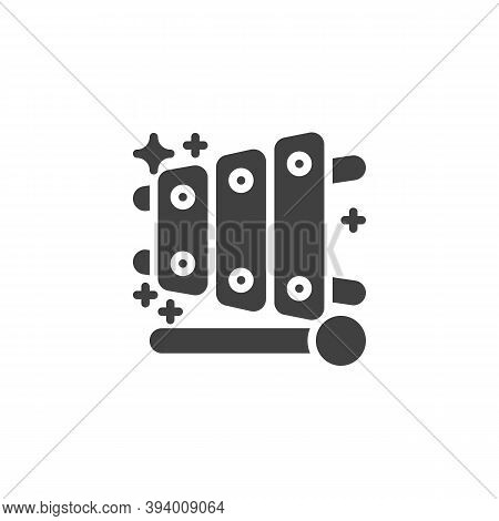 Xylophone Toy Vector Icon. Filled Flat Sign For Mobile Concept And Web Design. The Xylophone And Mal