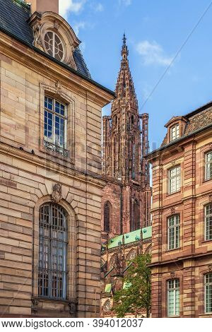 Strasbourg Cathedral Also Known As Strasbourg Minster, Is A Gothic Roman Catholic Cathedral In Stras