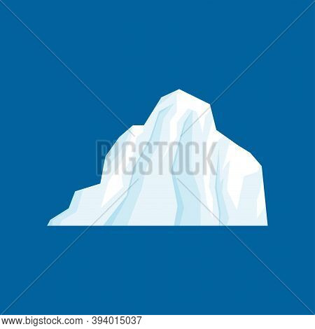 Iceberg  Vector Illustration Isolated On White Background In A Cartoon Flat Style.  Antarctic And No