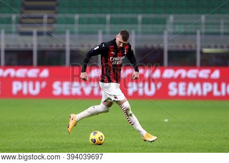 Milano, Italy. 08th November 2020. Ante Rebic  Of Ac Milan   During The  Serie A Match  Between Ac M