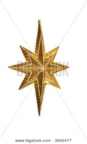 Christmas Star On White Background