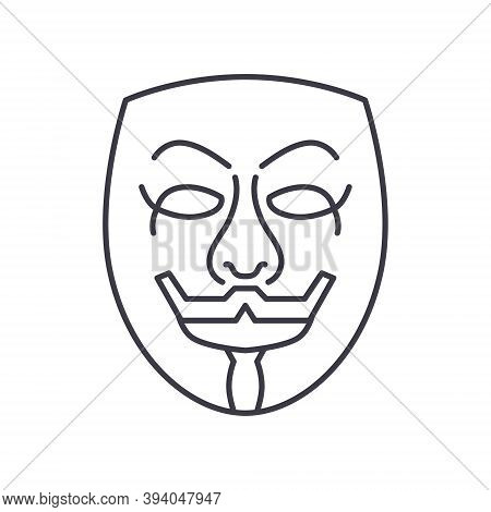 Anonymity Icon, Linear Isolated Illustration, Thin Line Vector, Web Design Sign, Outline Concept Sym