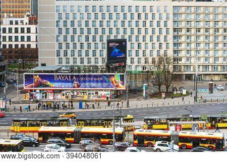 Warsaw, Poland - February 2, 2020: Tramway in Warsaw, Poland