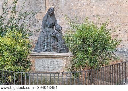 Campos, Balearic Islands/spain; November 2020: Bronze Sculpture By Sebastiana Lladó I Sala, Outside