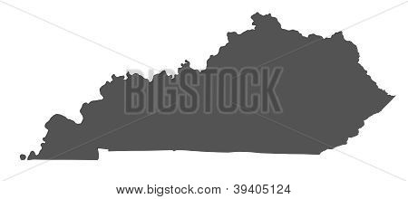 Map of Kentucky - USA - nonshaded
