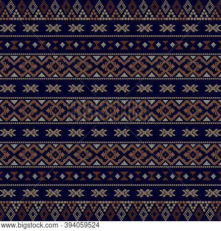 Aztec Tribal Seamless Pattern Geometric Shapes. Fabric Design Motif Aztec Tribal