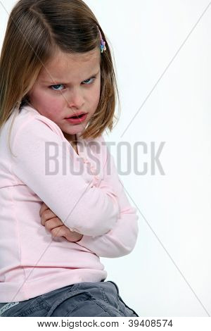 Child having a temper tantrum