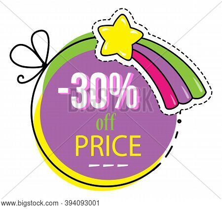 Sale Colored Banner. Discount Poster Template. Big Sale Special Offer With Percent Inscription And C