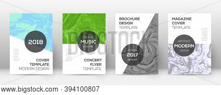 Abstract Cover. Outstanding Design Template. Suminagashi Marble Modern Poster. Outstanding Trendy Ab